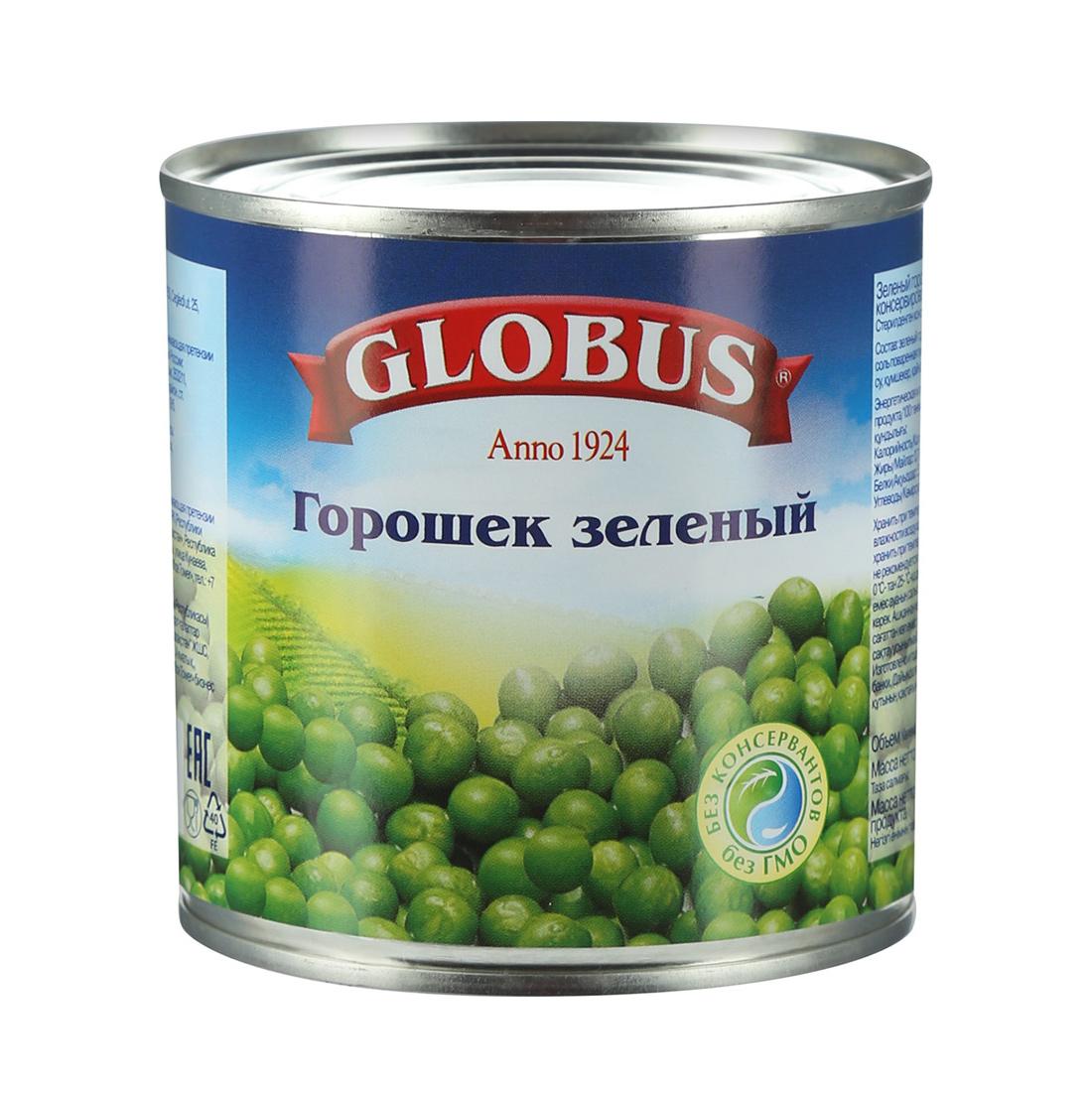 Горошек Globus зеленый 420 г фото