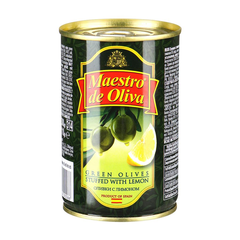 Оливки Maestro de Oliva с лимоном 300 г oliva косметика