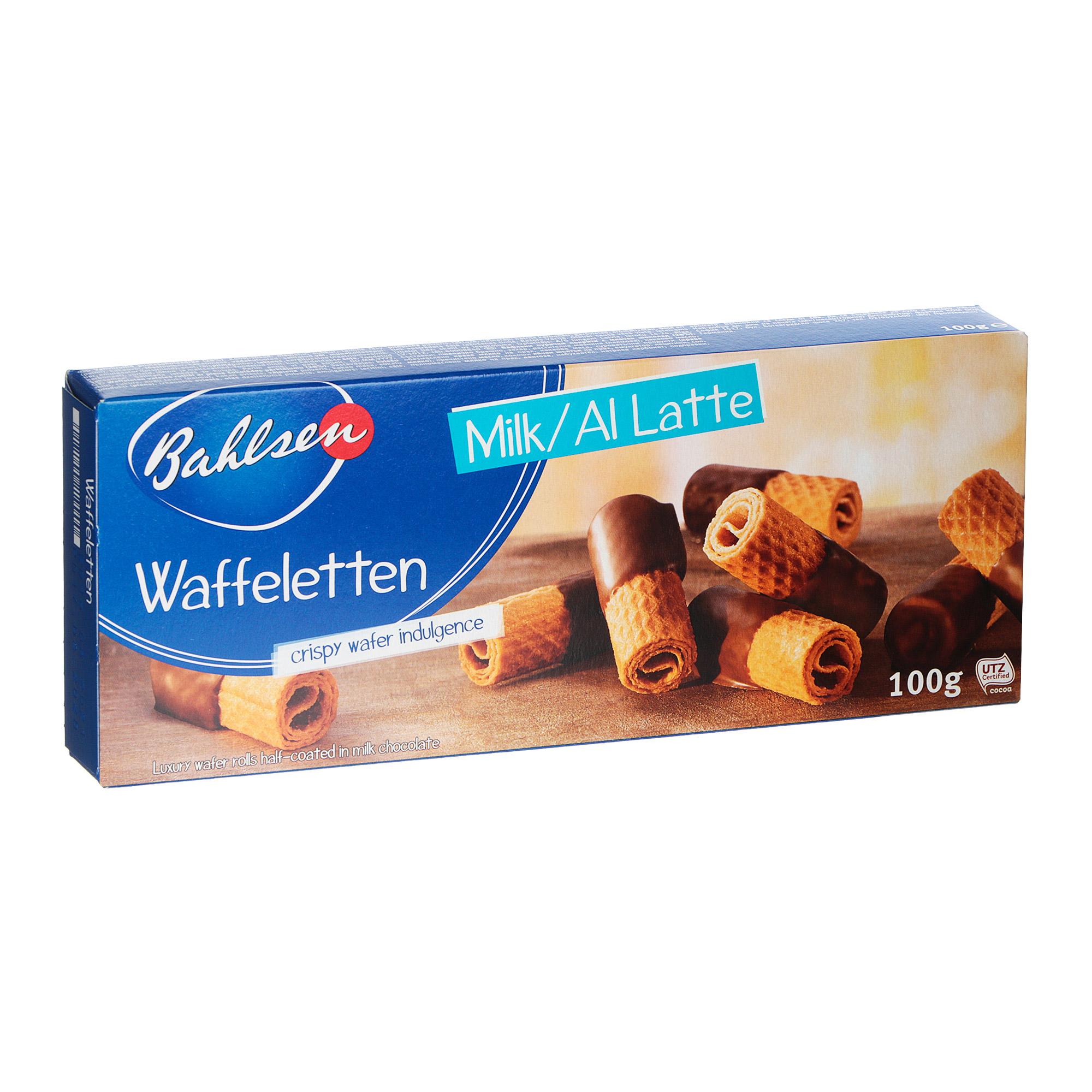 Вафельные трубочки Bahlsen Waffeletten трубочки в молочном шоколаде 100 г бальзен печенье choco leibniz сливочное в молочном шоколаде bahlsen