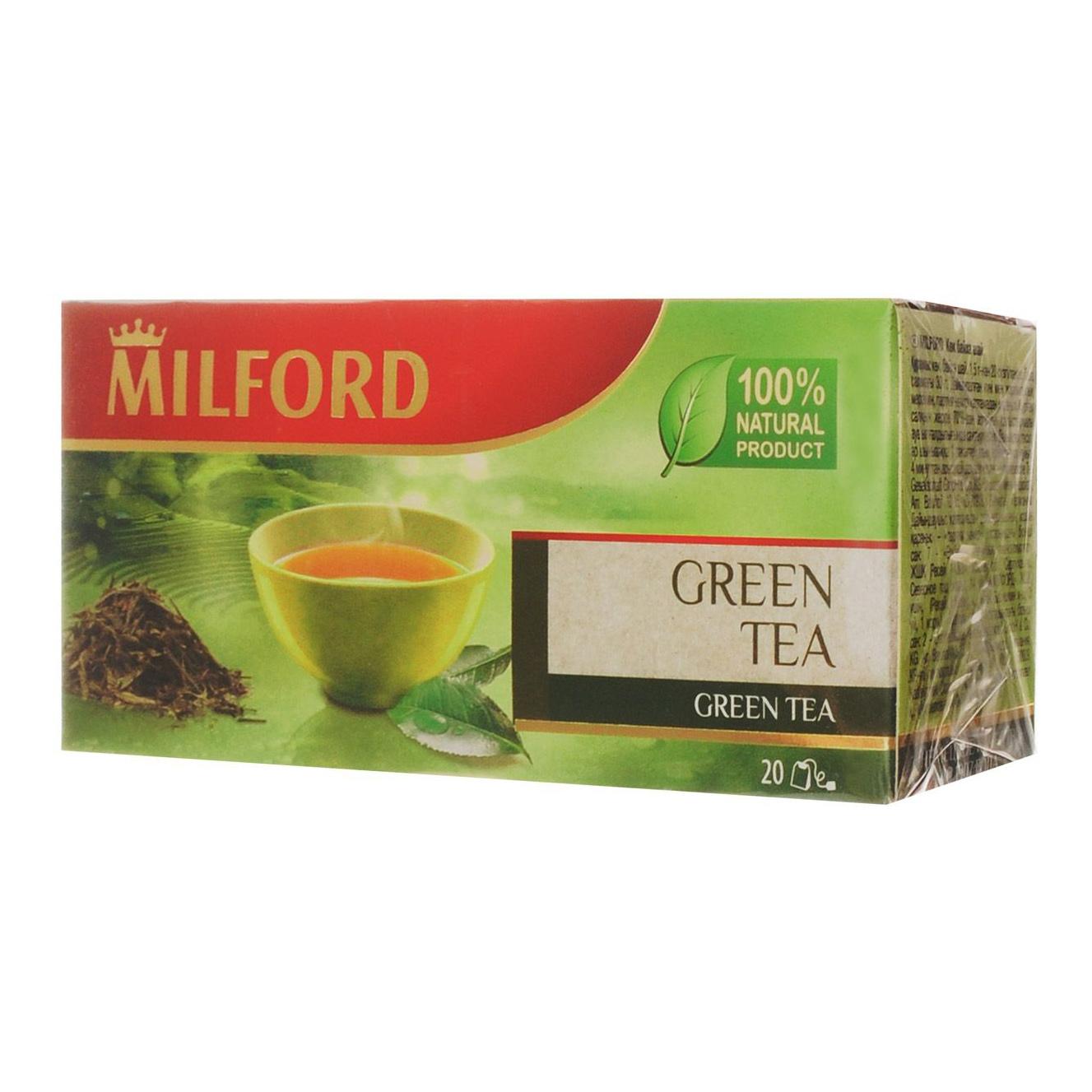 Чай зеленый Milford Creen Tea 20 пакетиков чай зеленый milford wellness в пакетиках 20 шт