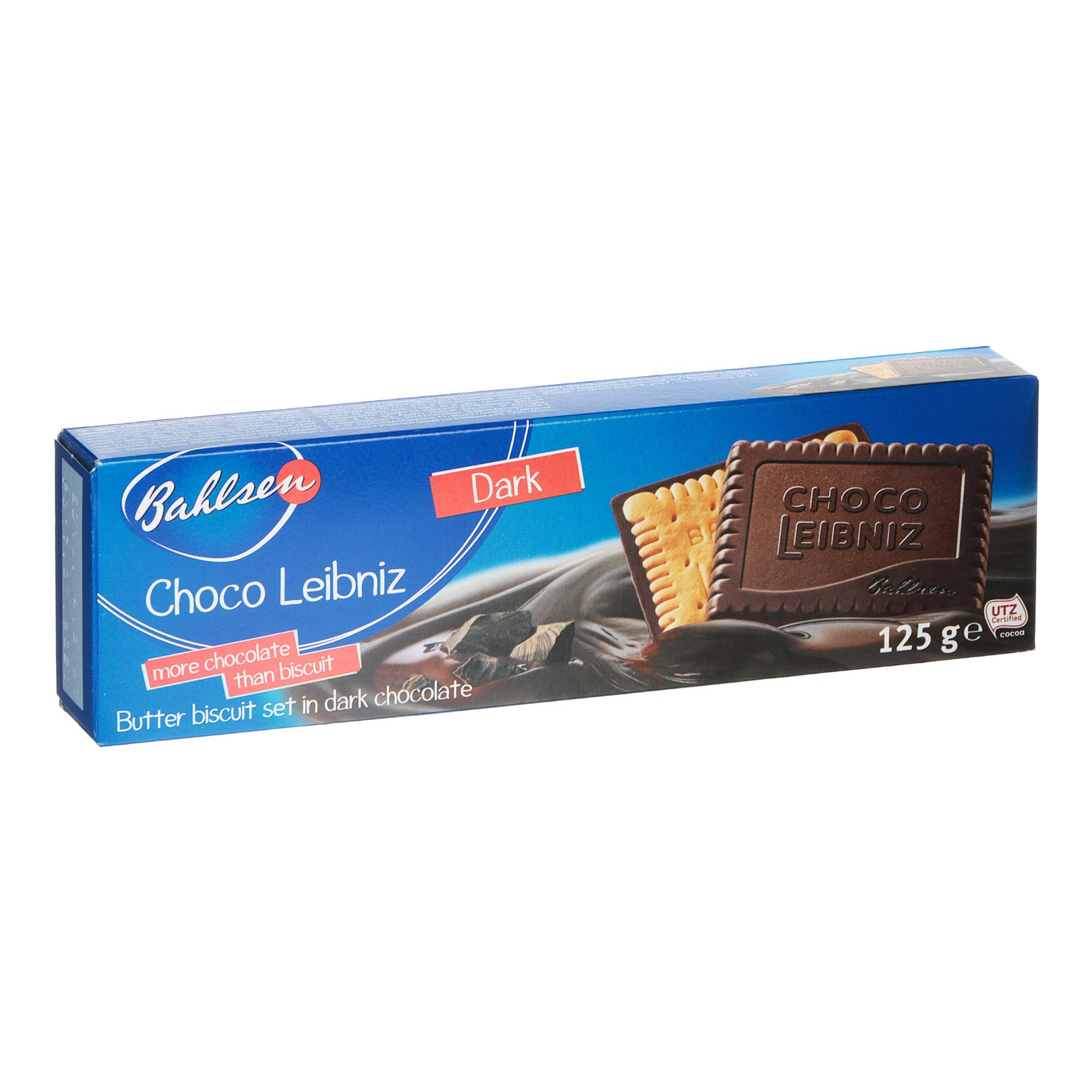 Печенье Bahlsen Dark Chocolate Сливочное в горьком шоколаде 125 г бальзен печенье choco leibniz сливочное в молочном шоколаде bahlsen