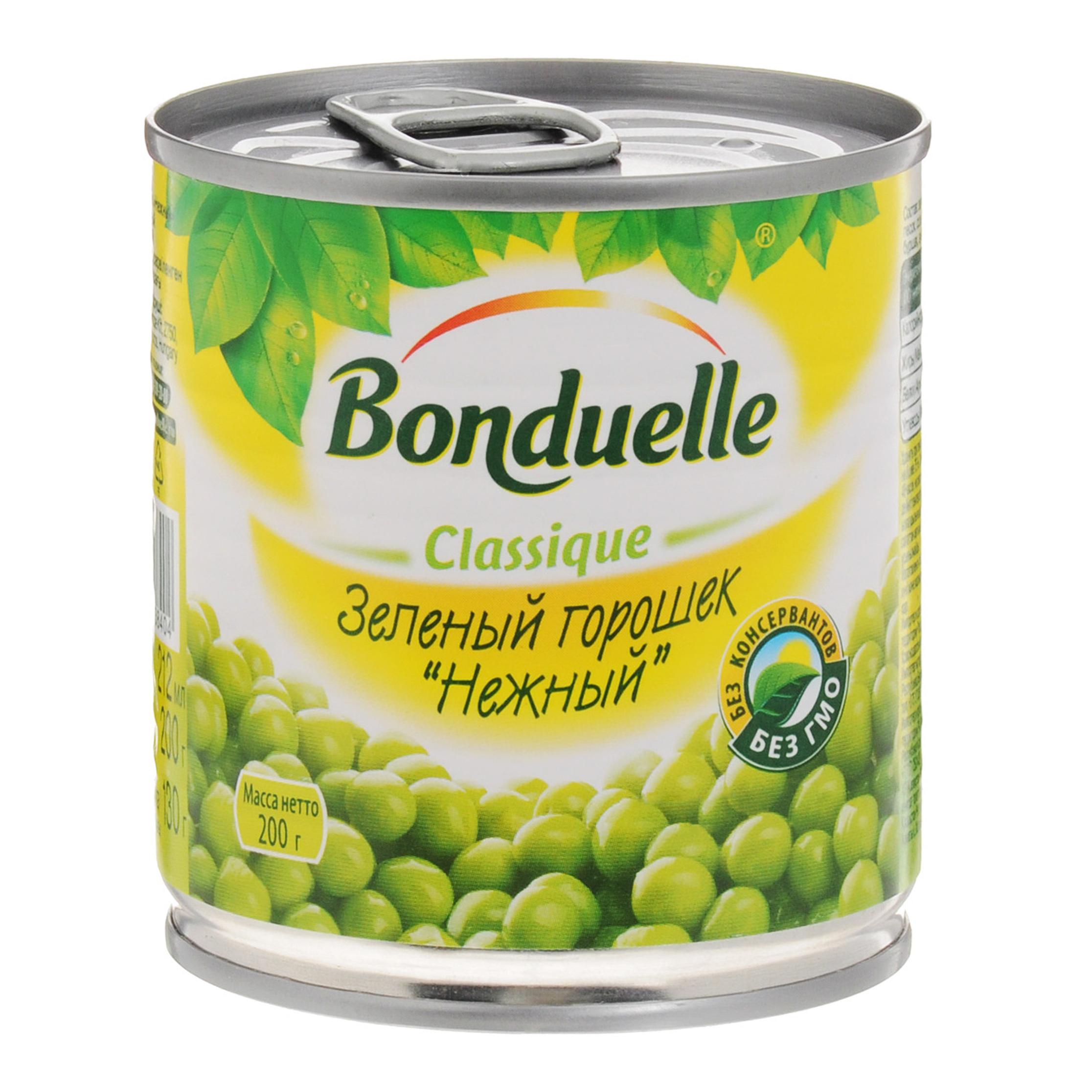Горошек зеленый Bonduelle Нежный 200 г зеленый горошек bonduelle classique нежный стеклянная банка 530 г