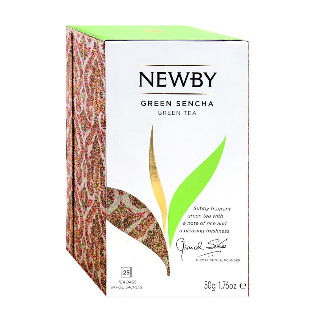 Чай зеленый Newby Зеленая Сенча 25 пакетиков недорого