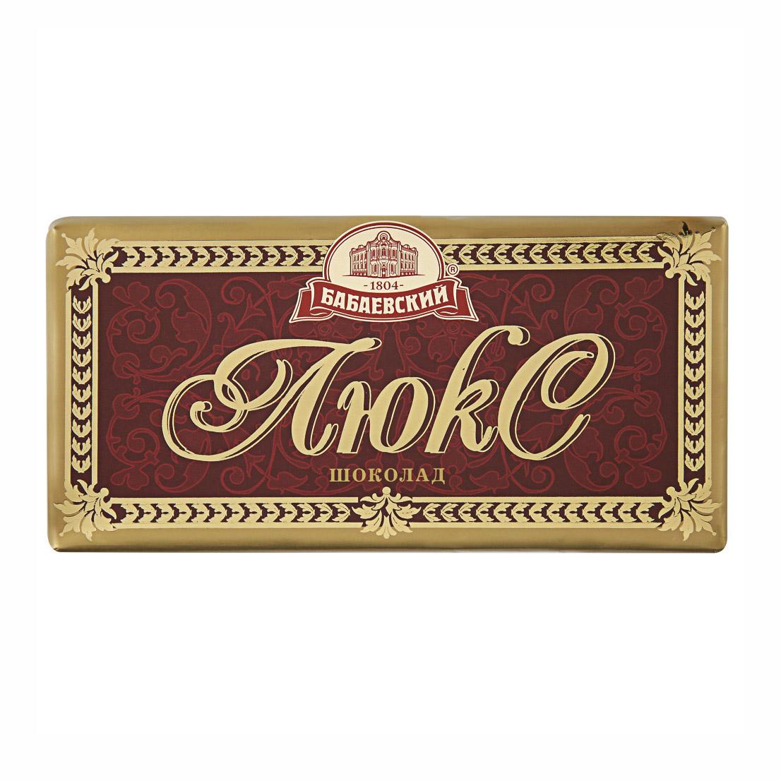 Шоколад Бабаевский Люкс темный 100 г