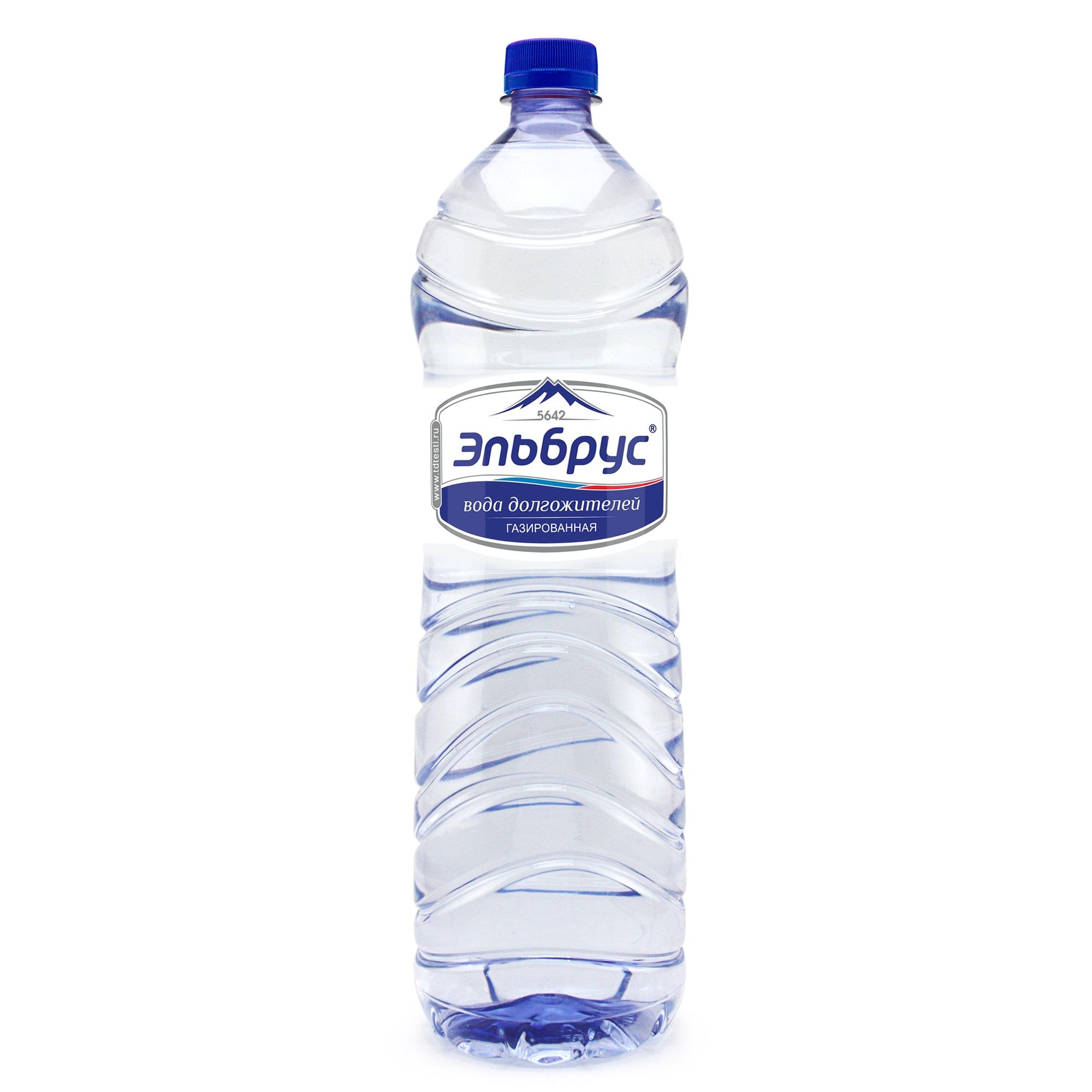 Вода минеральная Эльбрус газированная 1,5 л