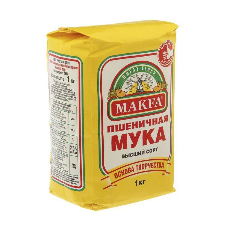 Мука Макфа Пшеничная 1 кг мука гарнец гороховая 0 5 кг