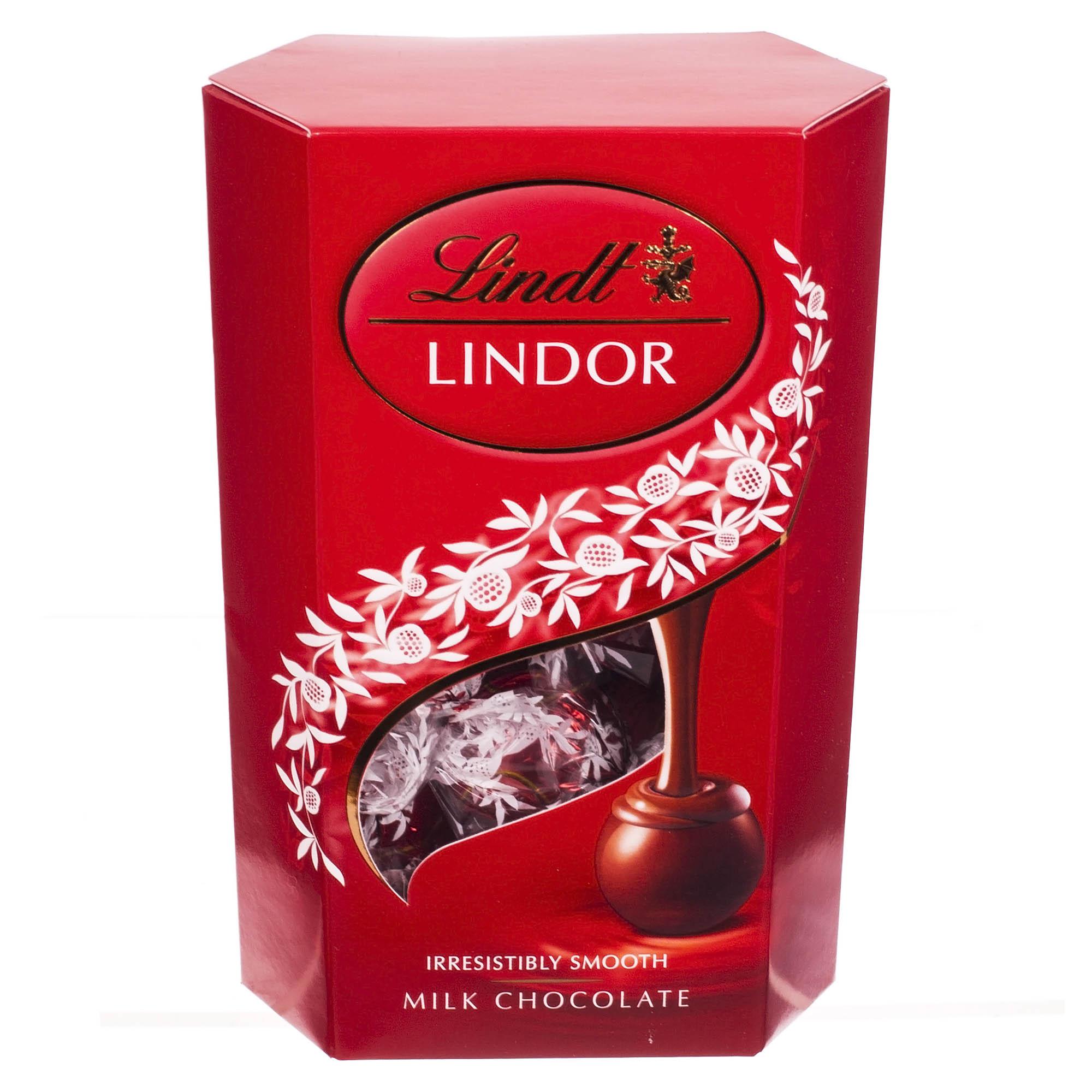 Конфеты из молочный шоколад с начинкой линдор 200 г недорого