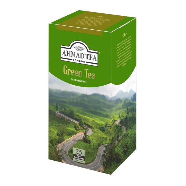 Чай Ahmad Tea Green Tea Зеленый 25 пакетиков