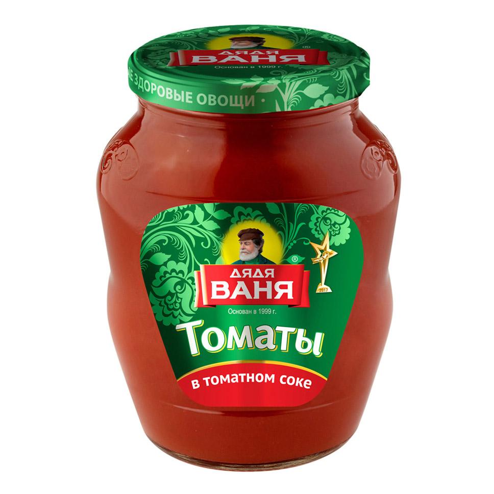 Томаты неочищенные Дядя Ваня в томатном соке 680 г перец пеперчино дядя ваня 680 г