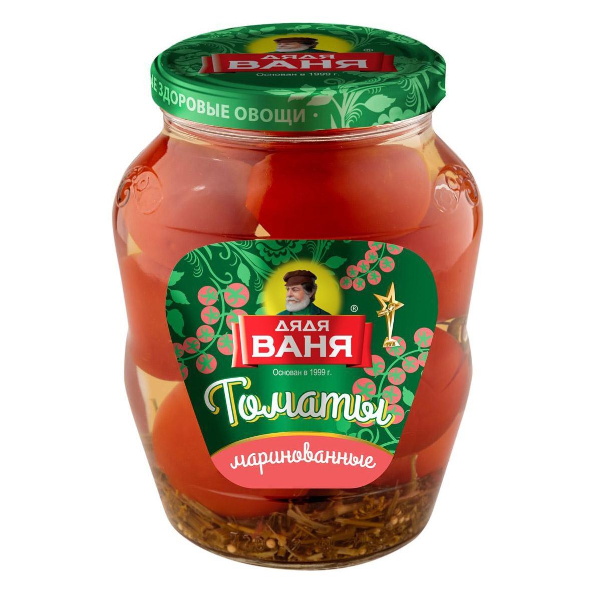 Томаты маринованные Дядя Ваня 680 г томаты маринованные дядя ваня стеклянная банка 680 г