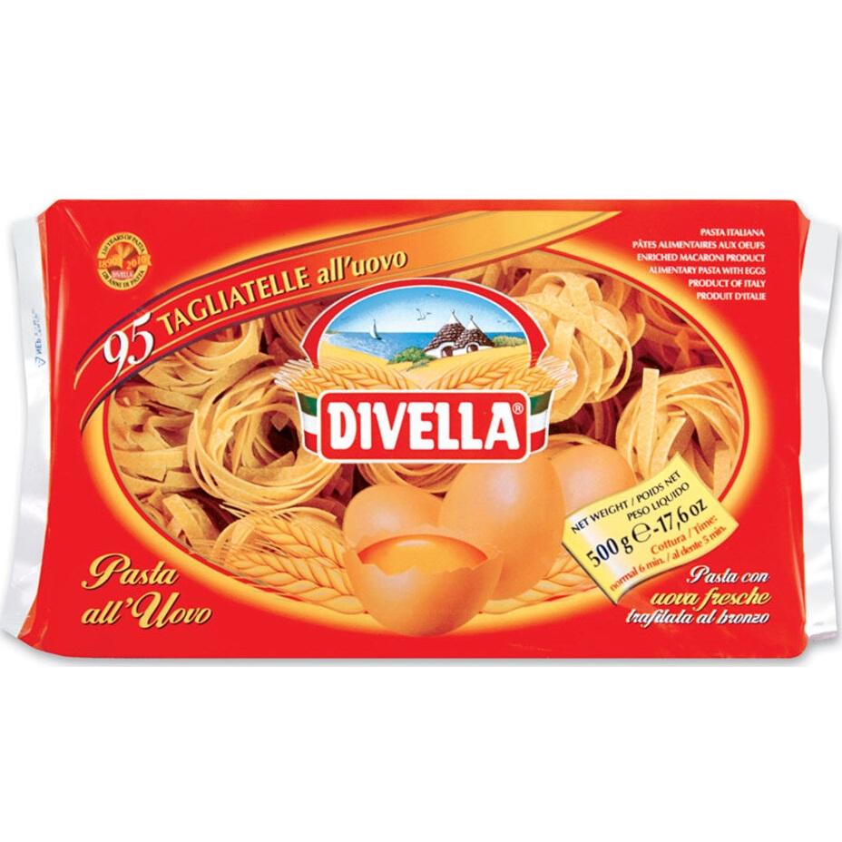 Макаронные изделия Divella Тальятелле 500 г макаронные изделия ашан ракушки 500 г