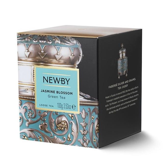 Чай зеленый Newby Цветок Жасмина листовой 100 г чай черный newby с чабрецом листовой 100 г