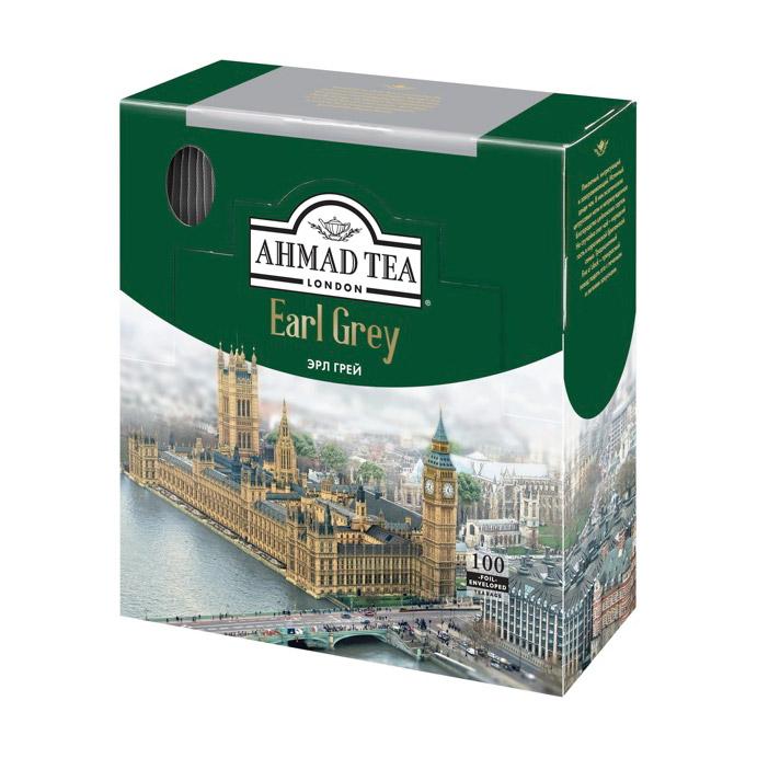 Чай Ahmad Tea Earl Grey черный 100 пакетиков чай ahmad tea strawberry mousse зеленый 20 пакетиков
