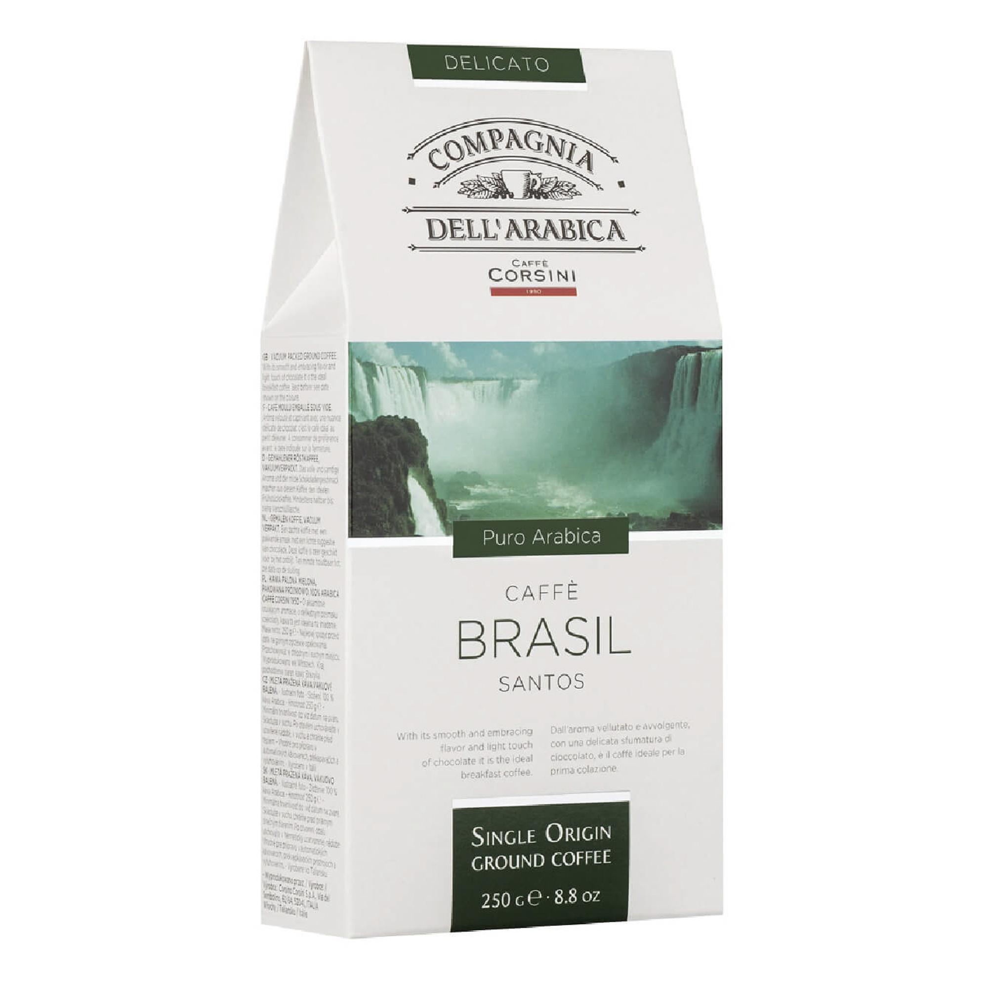 Кофе молотый Compagnia Dell'Arabica Puro Arabica Brasil Santos 250 г фото