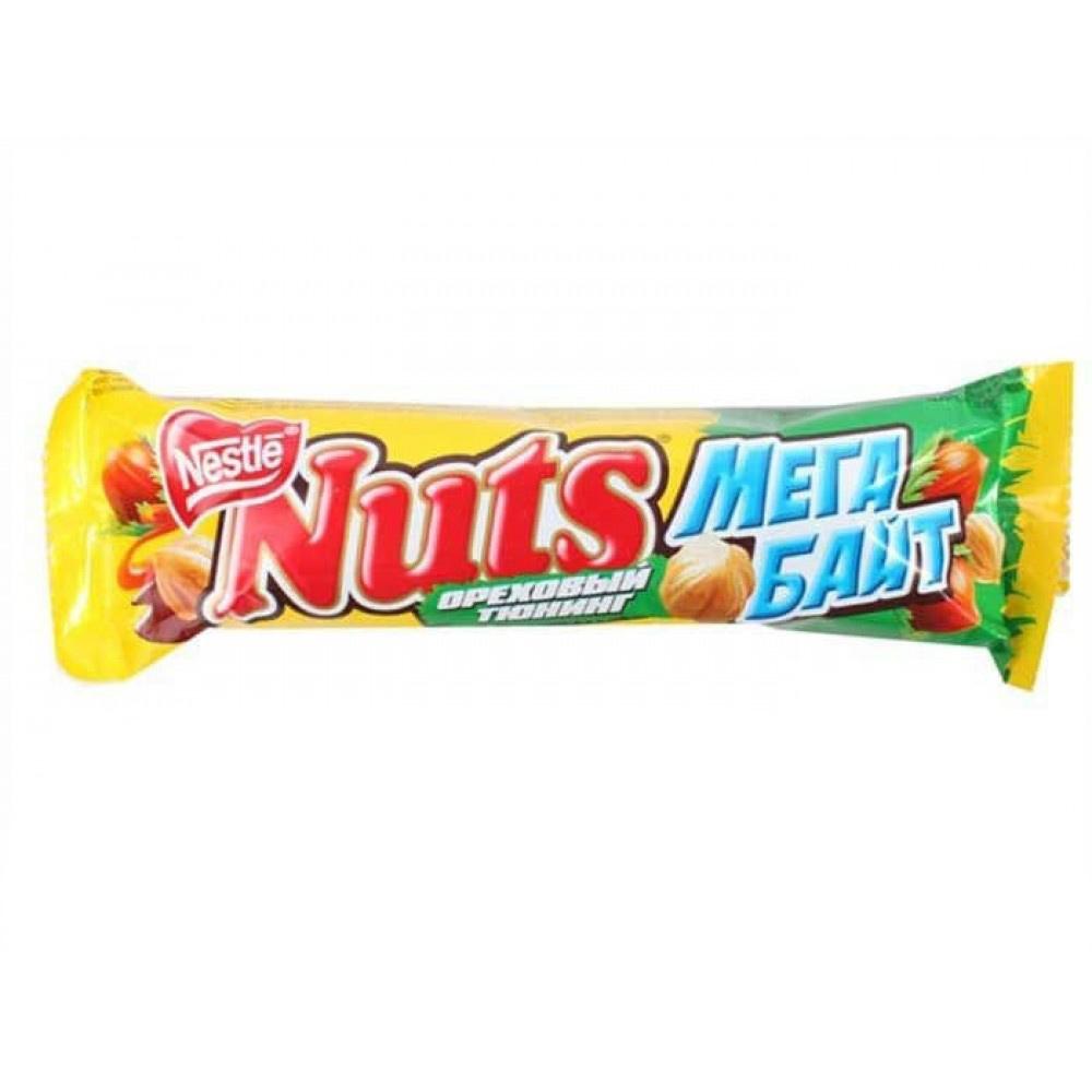 Фото - Шоколадный батончик Nuts Мегабайт 70 г шоколадный баточник nuts с орехами 50 г