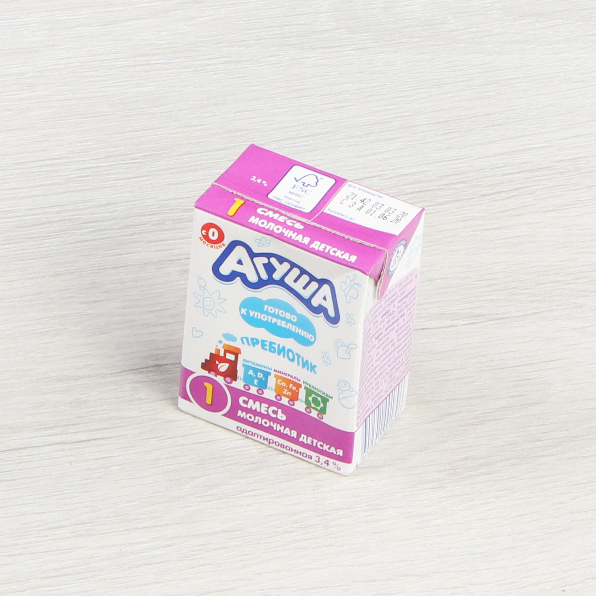 Смесь кисломолочная Детская Агуша-1 3,4% 200 г