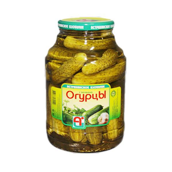 Огурцы консервированные Астраханское изобилие 3 л
