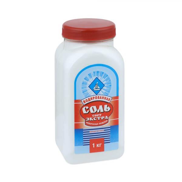 Соль поварская Брянск йодированная, 1000 г