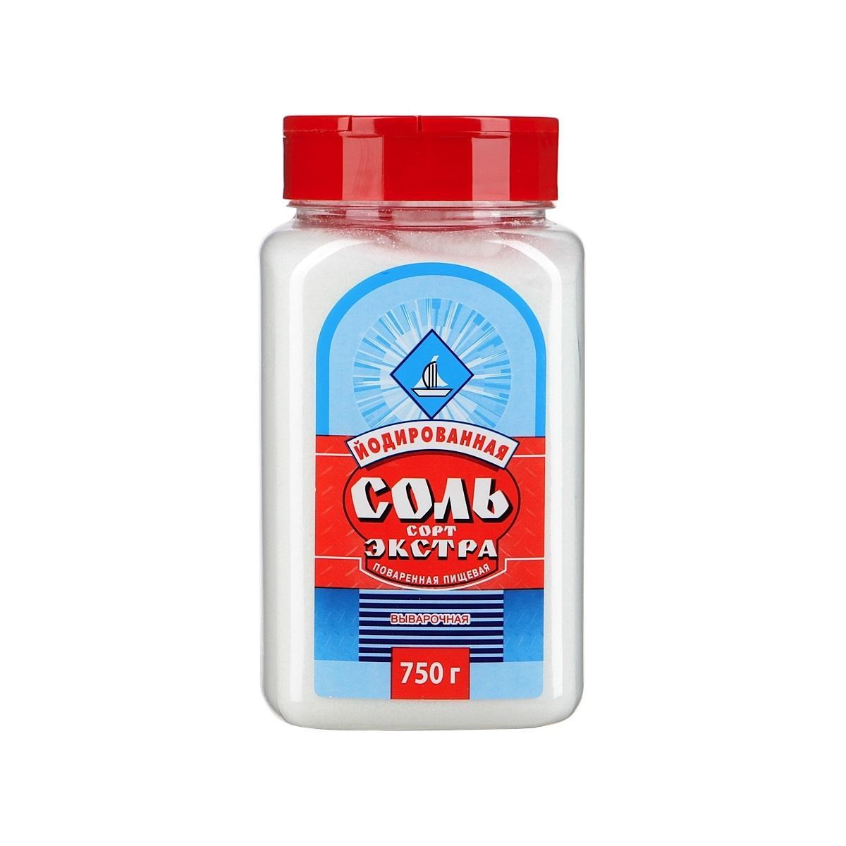 Соль поварская Брянск йодированная, 750 г