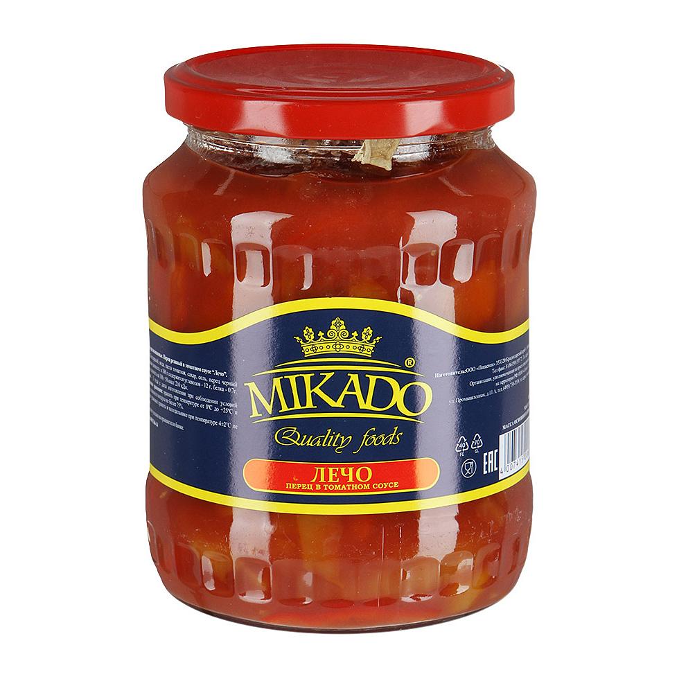 Фото - Лечо Mikado в томатном соусе 670 г лечо сладкий перец в томатном соусе помидорка 680 г
