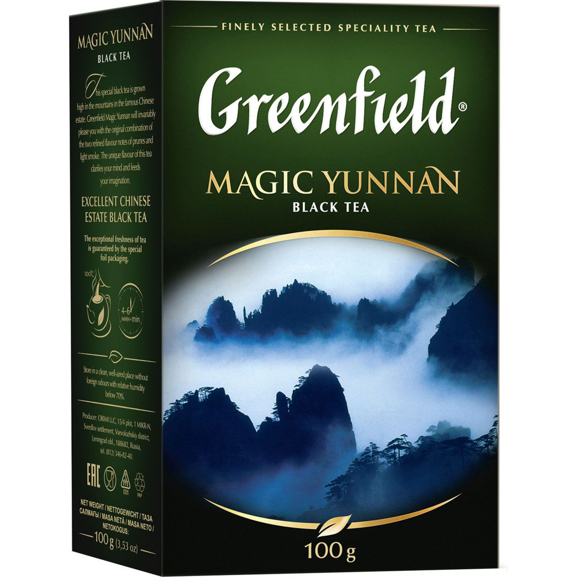 Чай черный Greenfield Magic Yunnan листовой 100 г чай черный greenfield magic yunnan 25 пакетиков