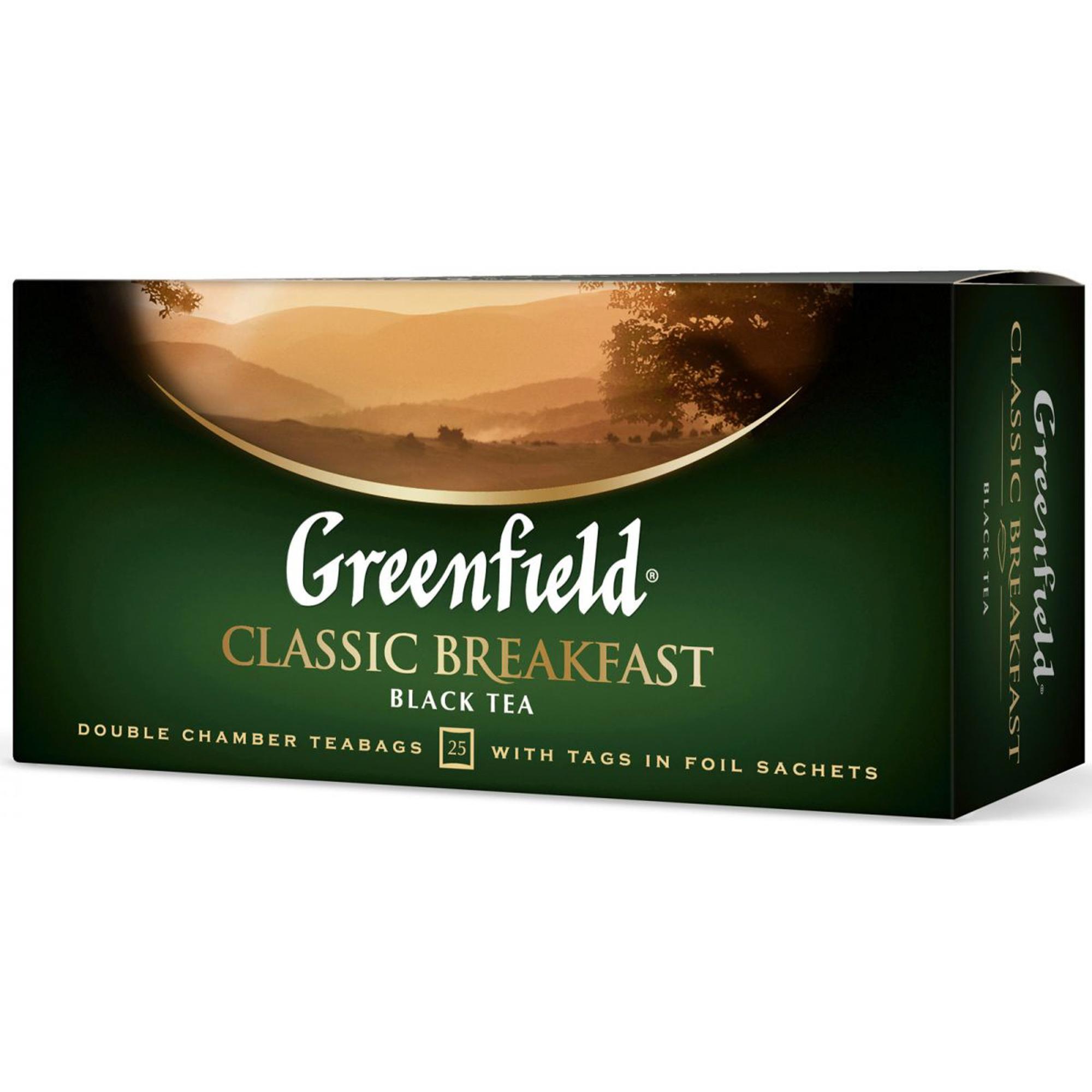 Чай черный Greenfield Classic Breakfast 25 пакетиков чай черный greenfield magic yunnan 25 пакетиков