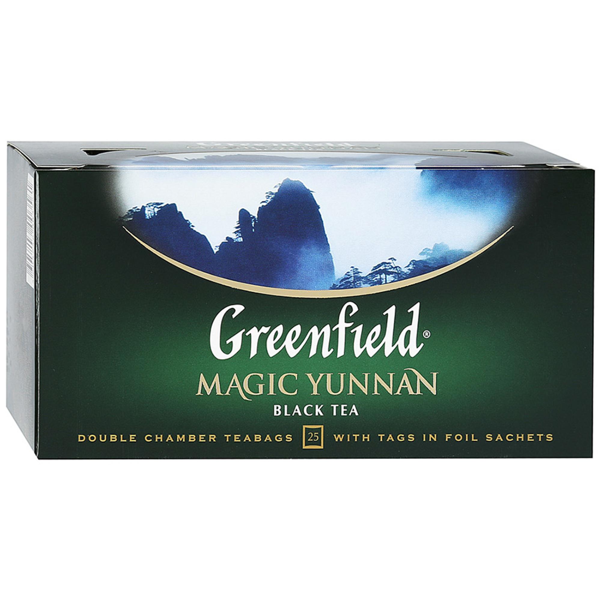 Чай черный Greenfield Magic Yunnan 25 пакетиков чай черный greenfield magic yunnan 25 пакетиков