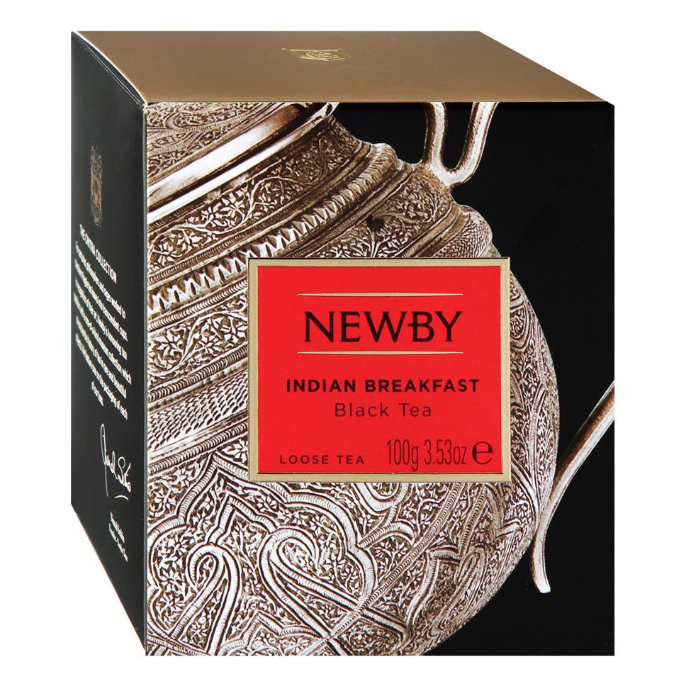 Чай черный Newby Индийский завтрак 100 г чай черный newby с чабрецом листовой 100 г
