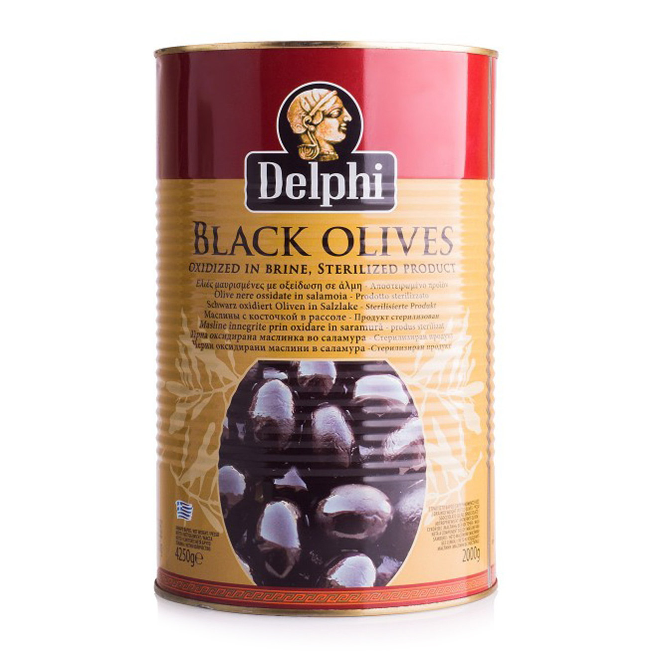 Маслины Delphi с косточкой 420 г delphi маслины с косточкой в рассоле монастырские 480 г
