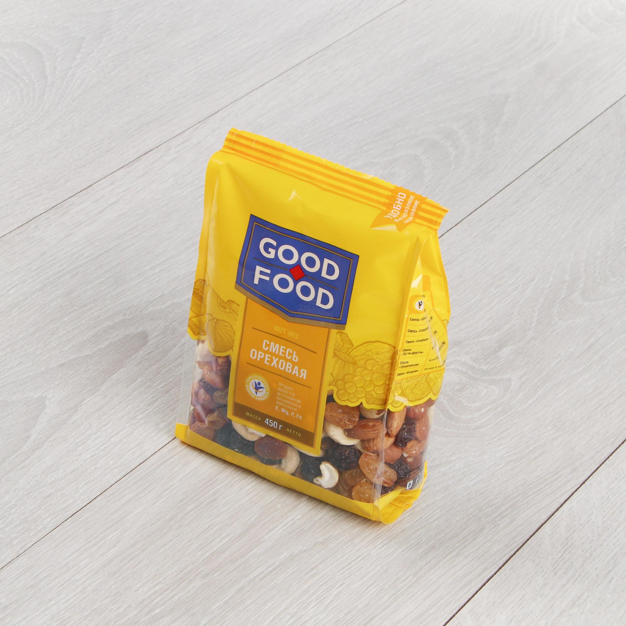 Фото - Смесь ореховая Гуд Фуд 450 г смесь фруктово ореховая botanica 140 г