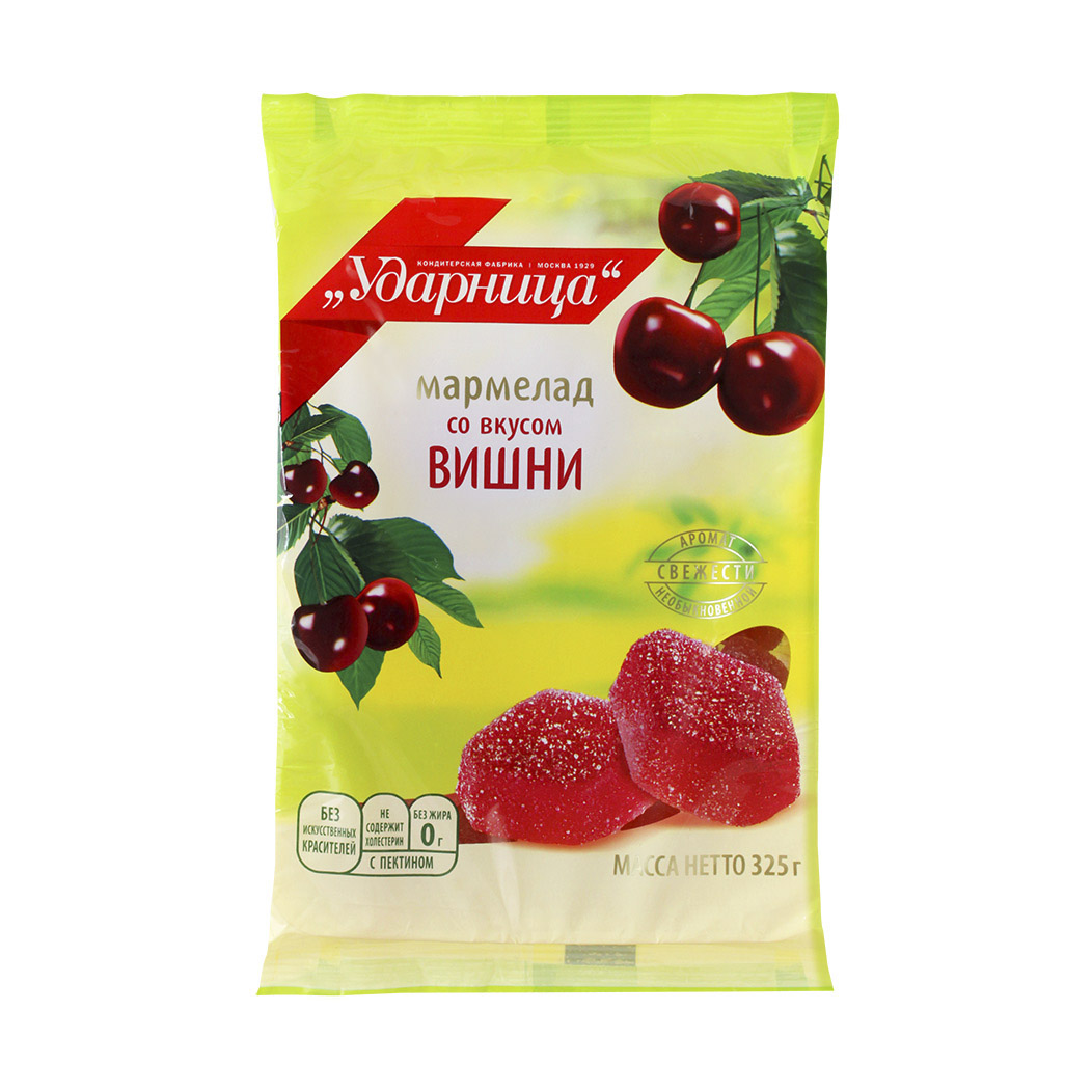 Мармелад Ударница со вкусом вишни 325 г алюшина т любовь со вкусом вишни