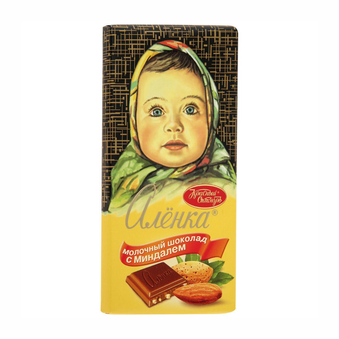 шоколад а коркунов горький с миндалем 55% 90 г Шоколад Аленка с миндалем 90 г