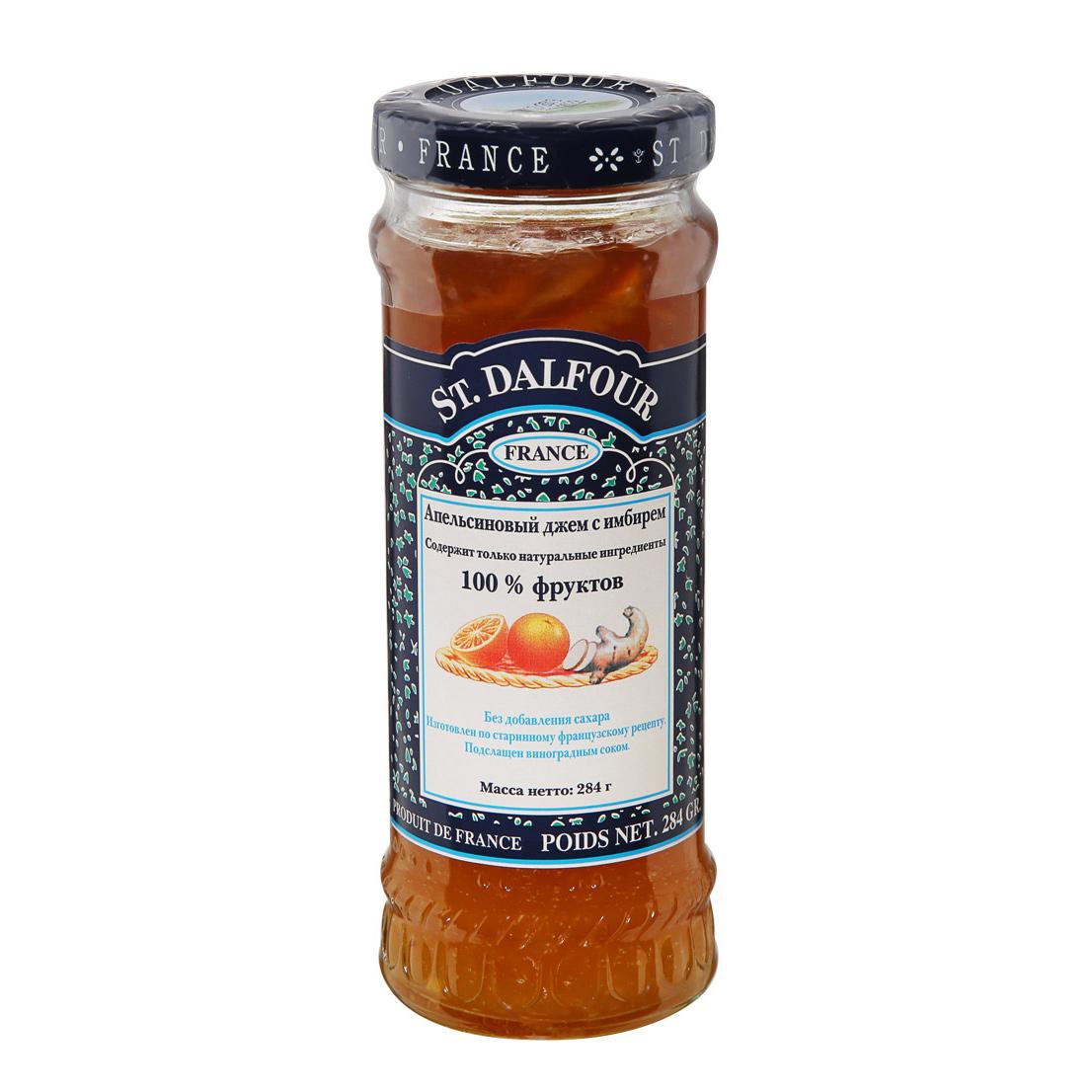 Джем St.Dalfour Апельсин и Имбирь 284 г апельсиновый мармелад шикарный апельсиновый мармеладный джем 10 унций 284 г