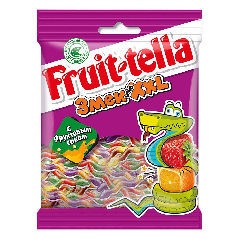 Мармелад жевательный Fruittella Змеи XXL с фруктовым соком 70 г фото