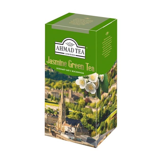 Чай Ahmad Tea зеленый с жасмином 25 пакетиков чай ahmad tea strawberry mousse зеленый 20 пакетиков