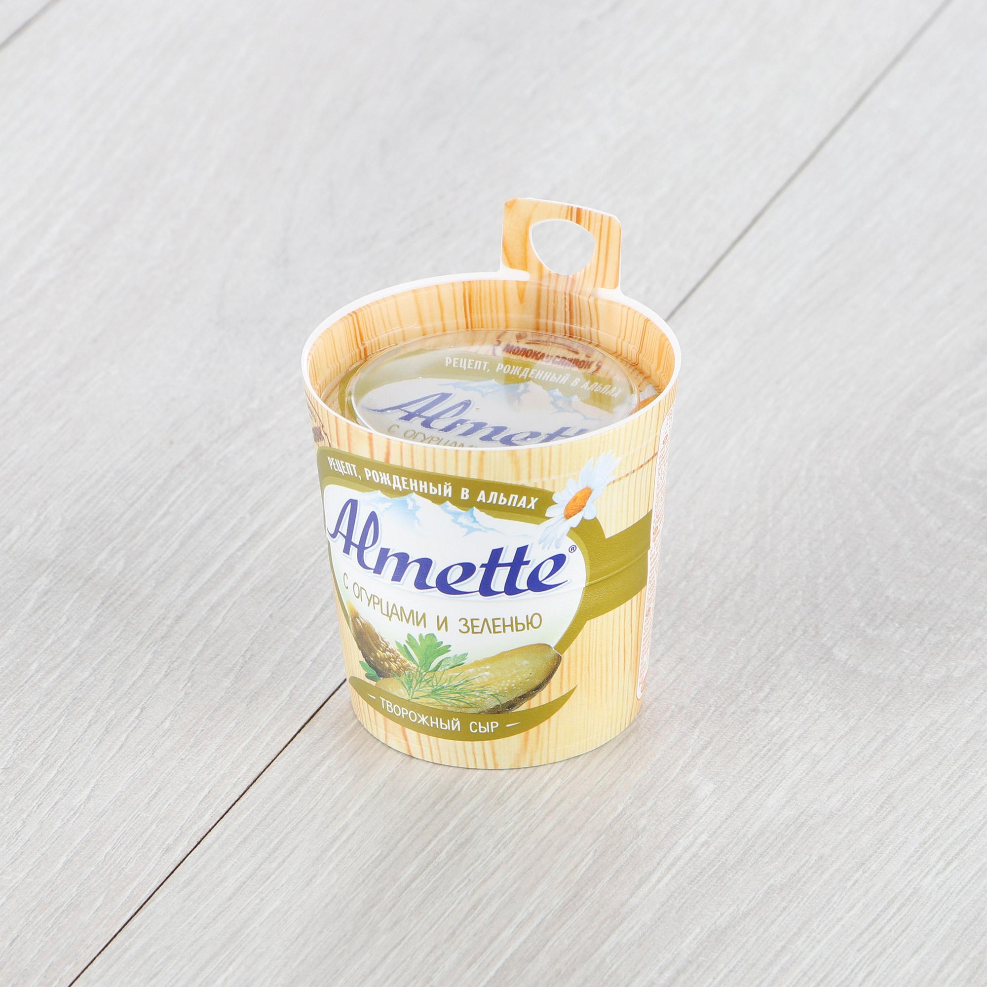 Сыр Almette творожный с огурцами и зеленью 60% 150 г недорого