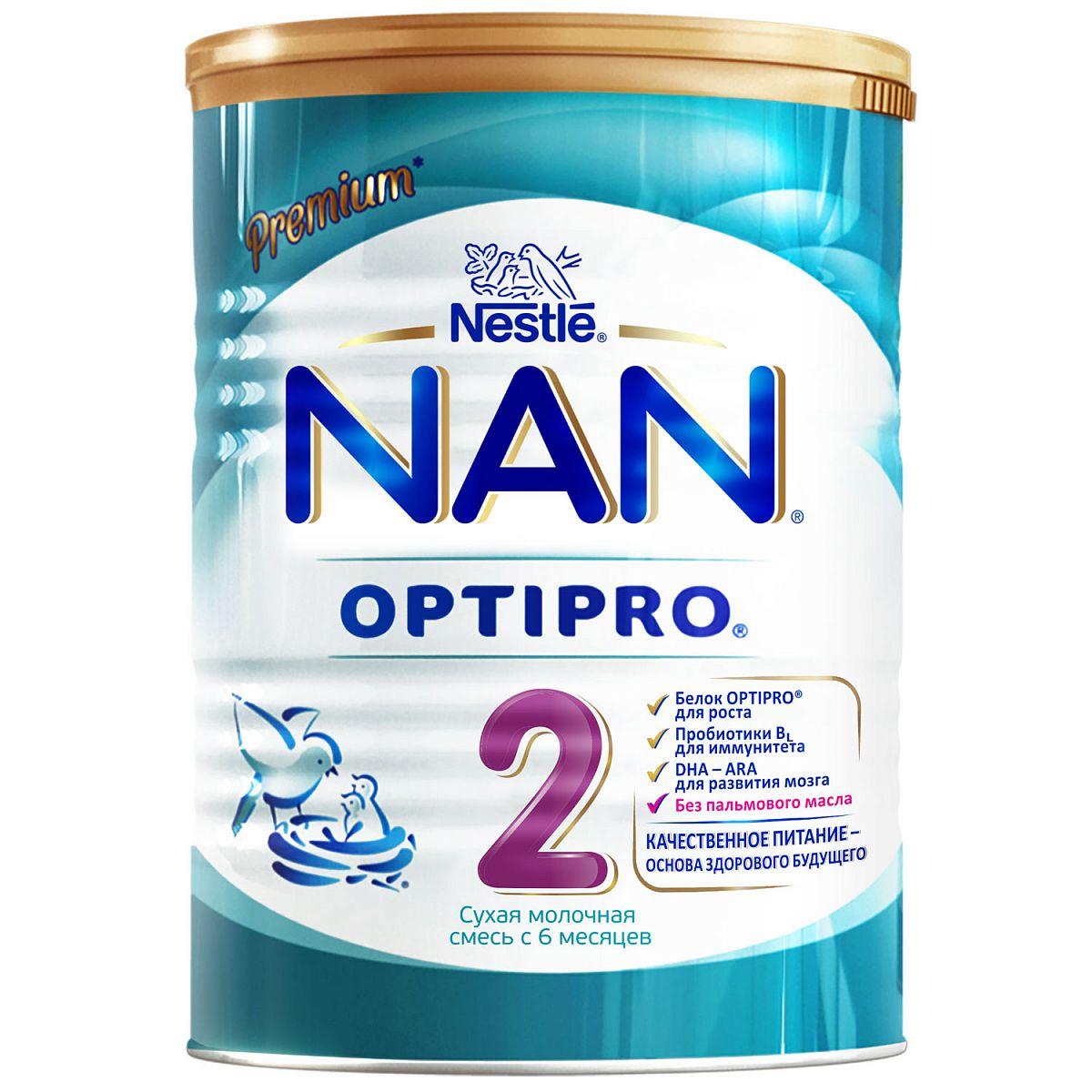 Смесь молочная NAN 2 Optipro с 6 месяцев 400 г