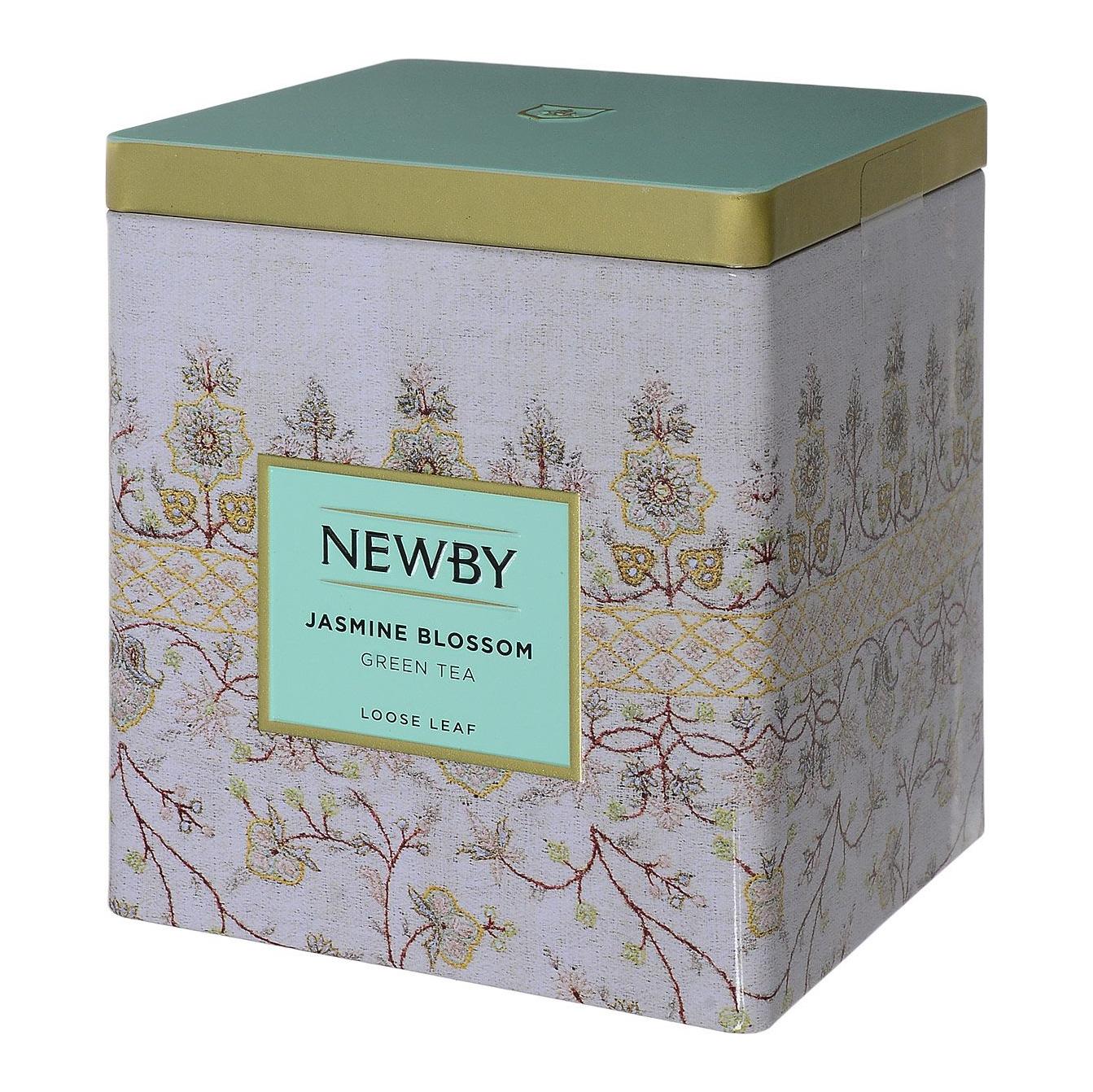 Чай зеленый Newby Цветок Жасмина листовой 125 г чай черный newby с чабрецом листовой 100 г