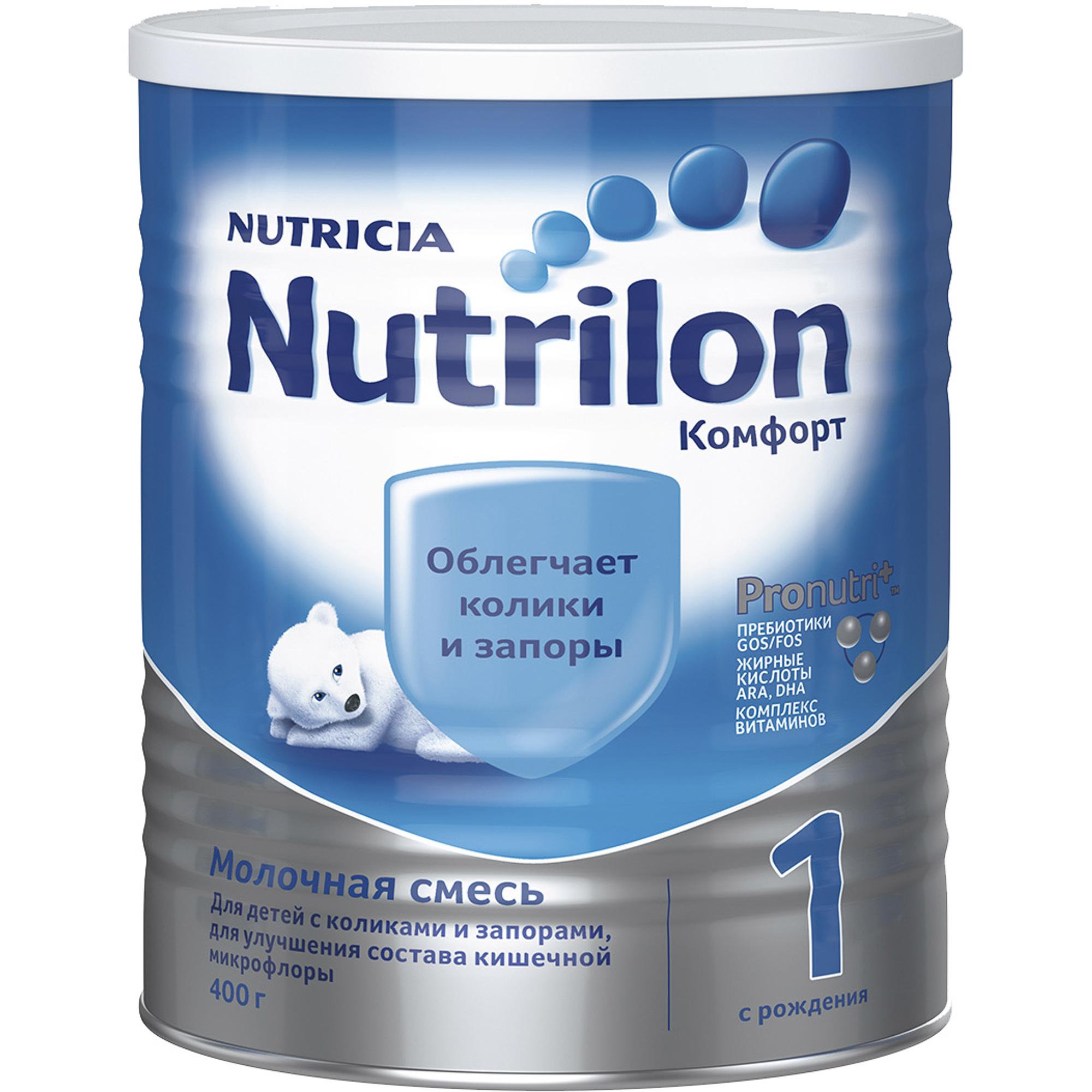 Смесь молочная Nutrilon Комфорт 1 с рождения 400 г молочная смесь nutricia nutrilon nutricia 1 premium c рождения 800 г