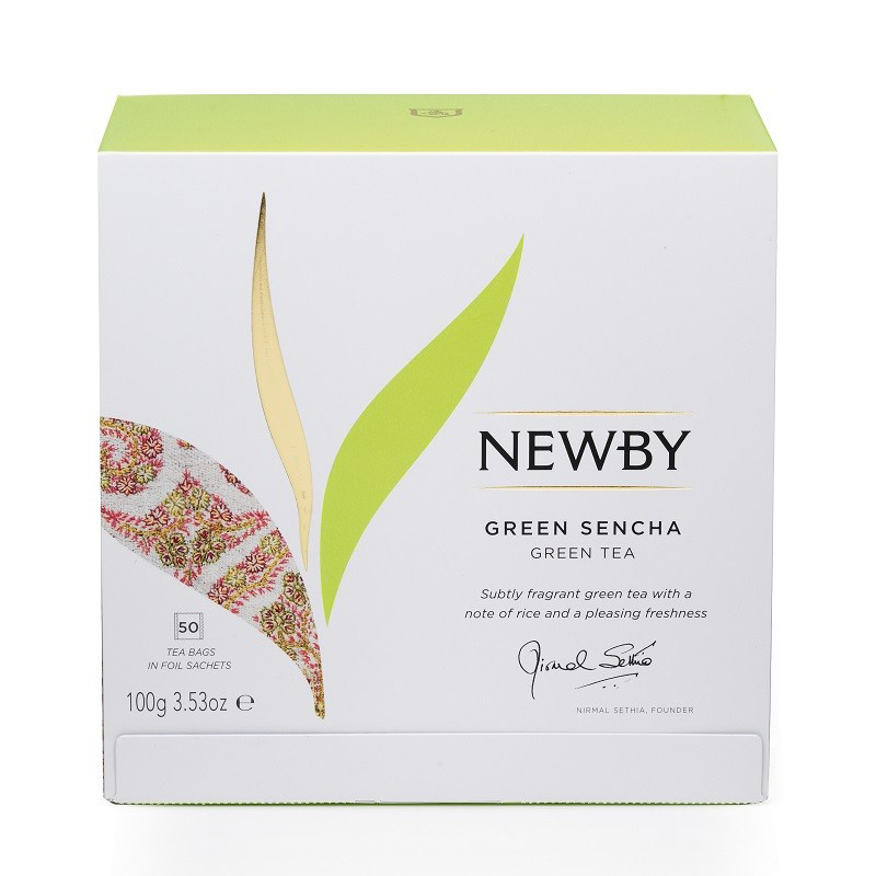 Чай зеленый Newby Зеленая Сенча 50 пакетиков недорого