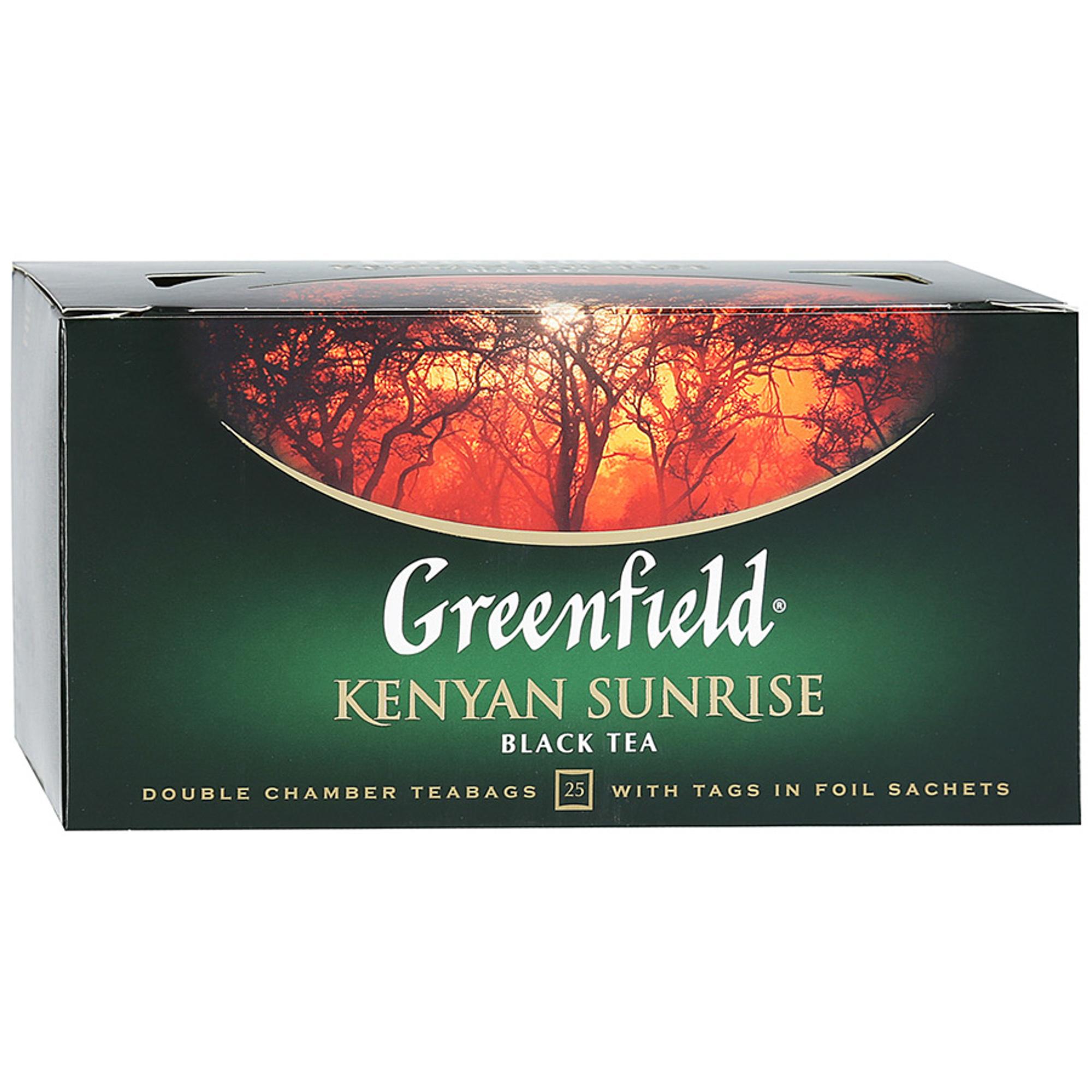 Чай черный Greenfield Kenyan Sunrise 25 пакетиков чай черный greenfield magic yunnan 25 пакетиков