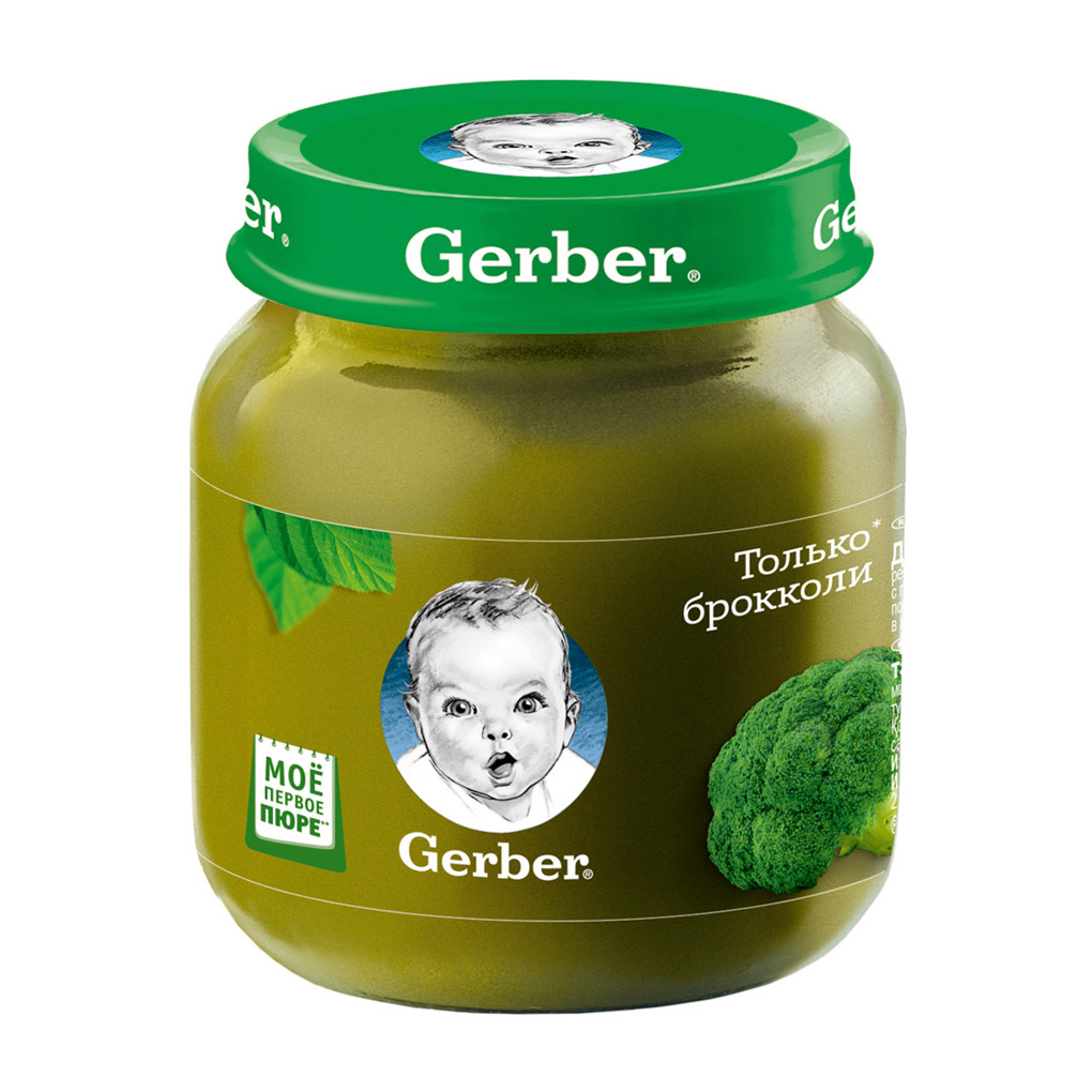 Пюре овощное Gerber Брокколи 130 г