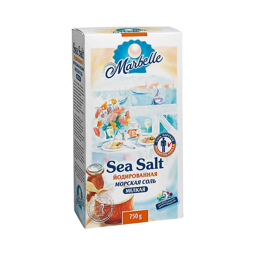 setra соль морская мелкая йодированная с пониженным содержанием натрия 500 г Соль Marbelle морская йодированная мелкая 750 г