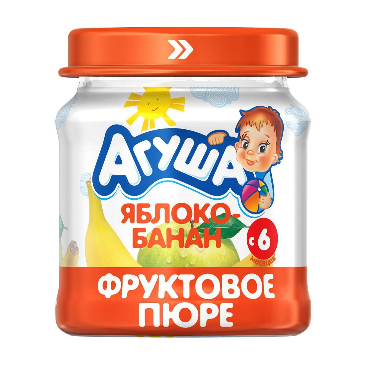 Пюре фруктовое Агуша Яблоко-Банан 115 г