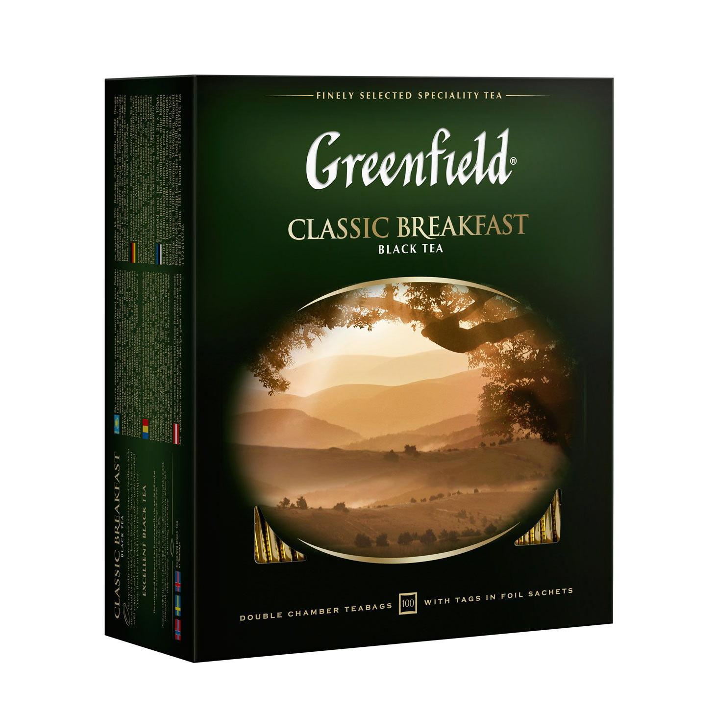 Фото - Чай черный Greenfield Классик Брекфаст 100х2 г чай черный matis золото цейлона 100х2 г