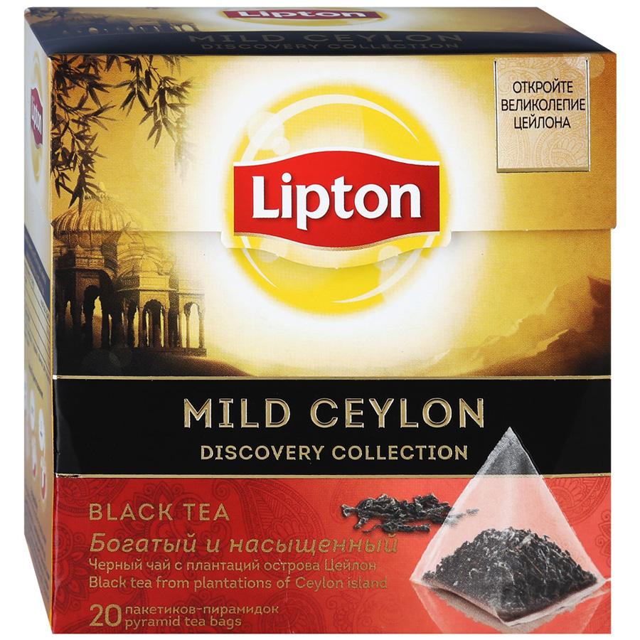 Чай черный Lipton Mild Ceylon 20х1,8 г чай черный lipton pina colada в