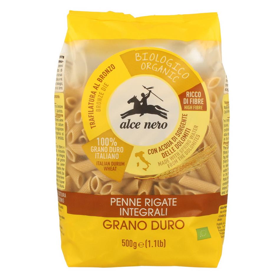 шоколад alce nero горький с дроблеными зернами какао плиточный 100 г Макаронные изделия Alce Nero Penne Rigate 500 г