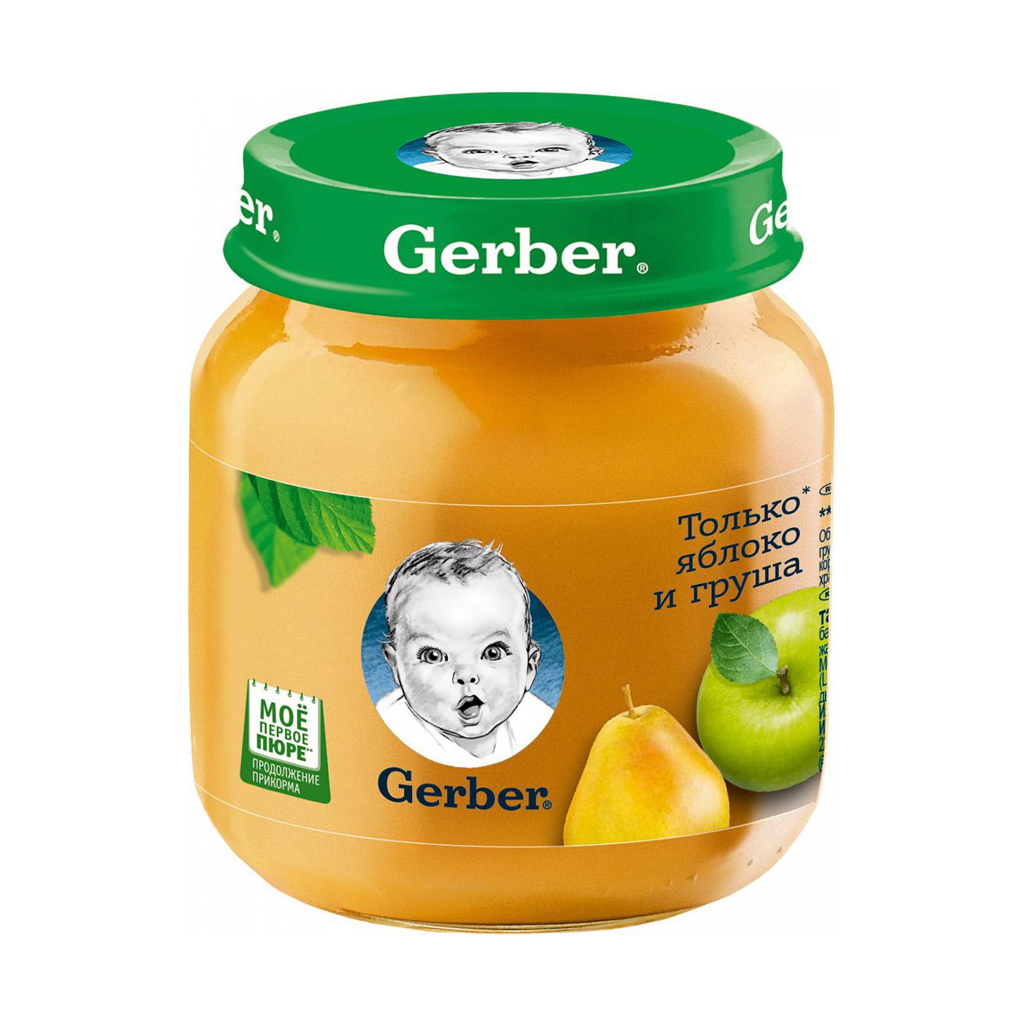 Пюре фруктовое Gerber Яблоко и груша 130 г