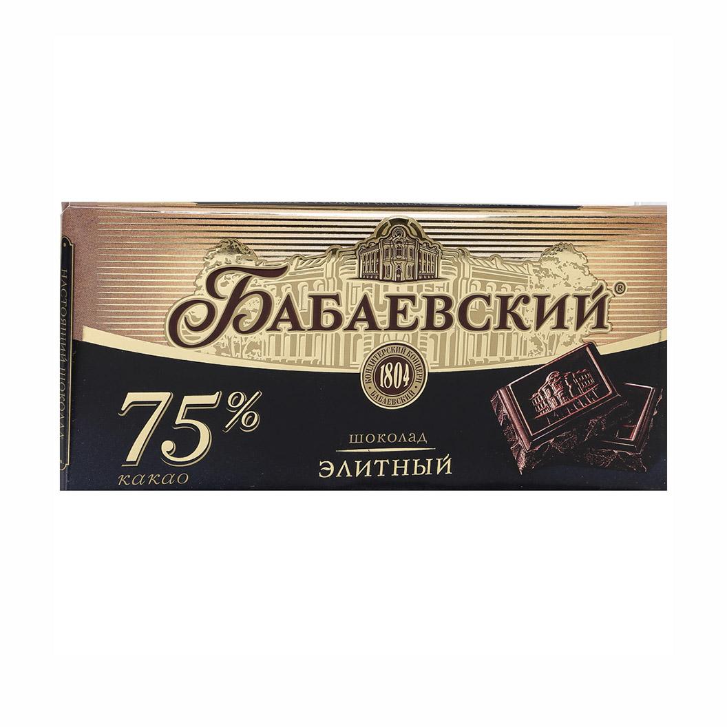 Шоколад Бабаевский Элитный 75% 200 г