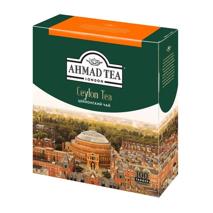 Чай Ahmad Tea Ceylon черный 100 пакетиков чай ahmad tea ceylon черный 25 пакетиков